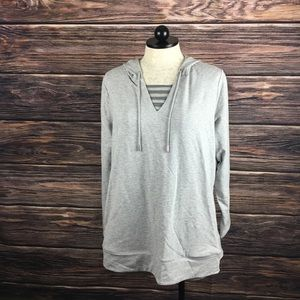Susan Graver Weekend Pullover Hoodie Sweatshirt 1X